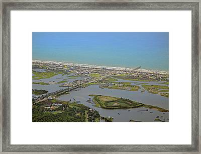 The Heart Of Topsail Island Framed Print by Betsy Knapp