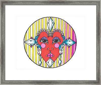The Heart Queen Framed Print