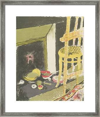 The Hearth, From The Series Landscapes And Interiors Framed Print