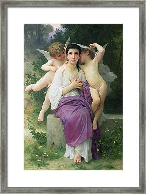 The Hearts Awakening Framed Print by William Adolphe Bouguereau