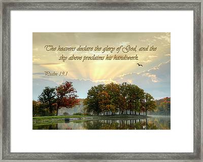 Framed Print featuring the photograph The Heavenly Morning Card by Ann Bridges