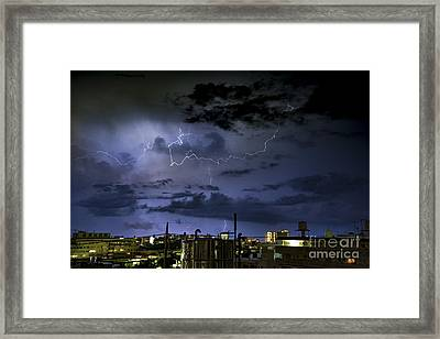 The Heavens Attack Framed Print