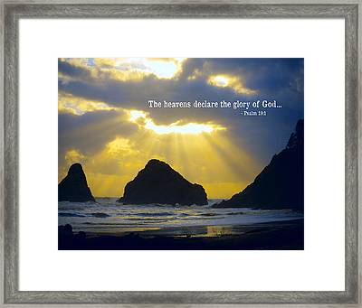 The Heavens Declare Framed Print by Bonnie Bruno