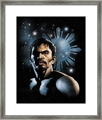 The Heavens Shine On Pacquiao Framed Print by Elvin Dantes