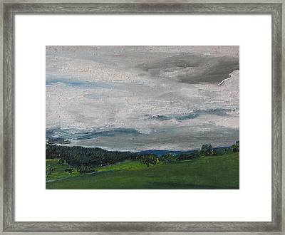 The Heavy Clouds  Framed Print
