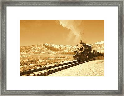 The Heber Creeper Framed Print by Caroline Clark