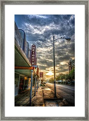 The Heights At Morning Light Framed Print by TK Goforth