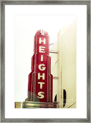 The Heights Flare Framed Print by Sonja Quintero
