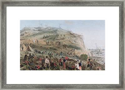 The Heights Of Alma   The Day After The Battle  Framed Print by Joseph-Benwell Austin