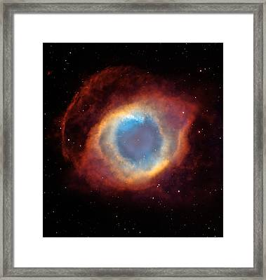 The Helix Nebula  Framed Print by Hubble Space Telescope