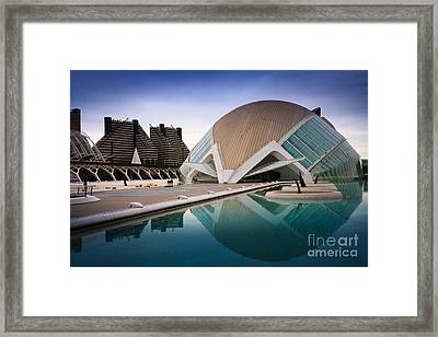 The Hemisferic In Valencia Spain  Framed Print by Peter Noyce