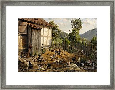 The Hen-coop Framed Print by Celestial Images