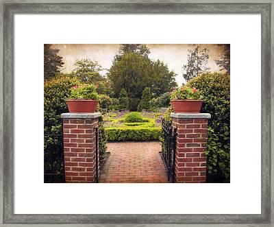 The Herb Garden Framed Print by Jessica Jenney