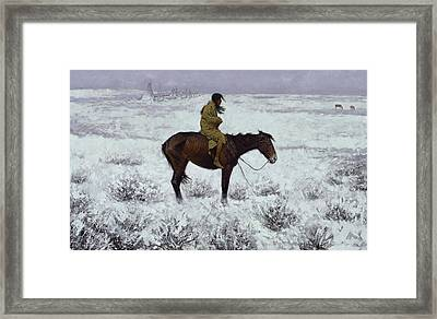 The Herd Boy 1905  Framed Print by Frederic Remington