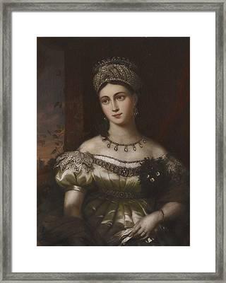 The Hereditary Duchess Of Saxe Gotha Altenburg Framed Print by MotionAge Designs