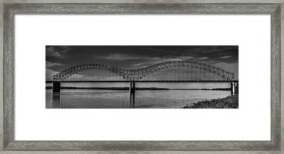 The Hernando De Soto Bridge Bw 001 Framed Print