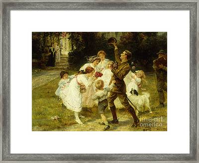 The Hero Of The Hour  Framed Print by Frederick Morgan