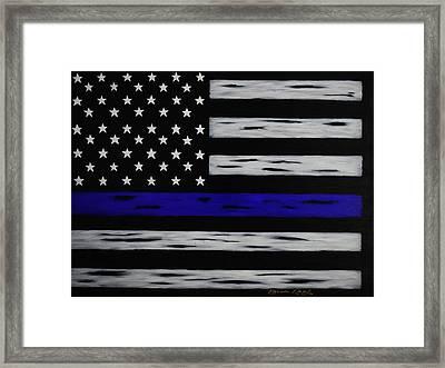 The Heroic Thin Blue Line Framed Print by Belinda Nagy