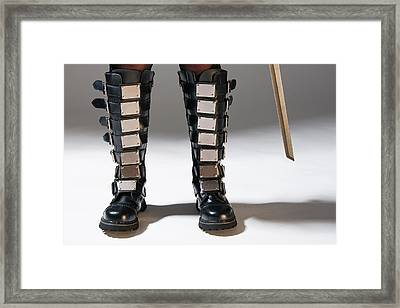 The Heroine Stands Framed Print
