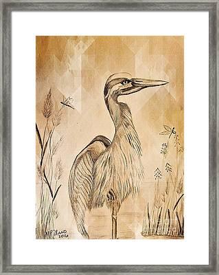 The Heron Framed Print