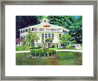 The Hexagon House, Bed And Breakfast, House Painting Framed Print