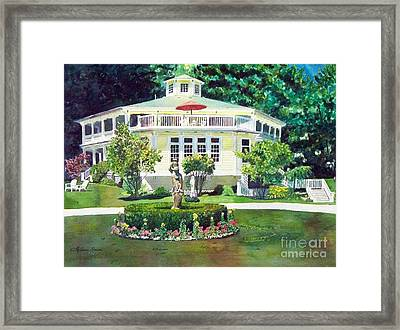 Framed Print featuring the painting The Hexagon House by LeAnne Sowa