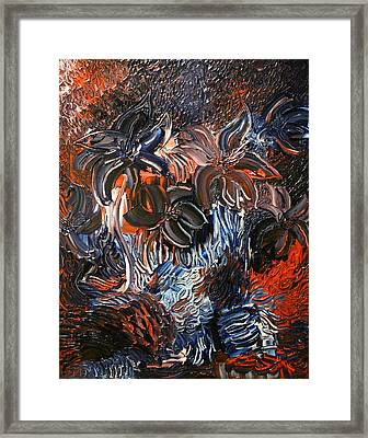 The Hibiscus Flowers Framed Print by Michael Kulick