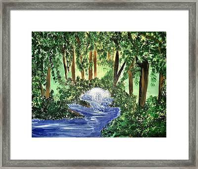 The Hidden Forest Framed Print by Angela Holmes
