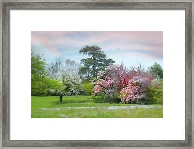 Framed Print featuring the photograph The Hidden Garden by Diana Angstadt