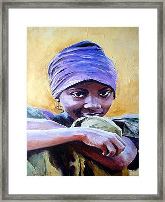 The Hidden Smile Framed Print by Claudia Mandl