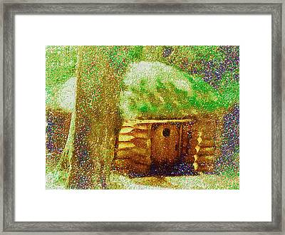 The Hideaway Of Bilbo Baggins Framed Print by Mario Carini