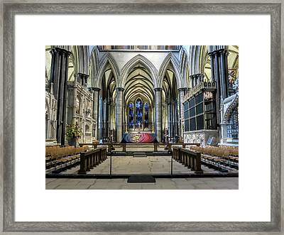 The High Altar In Salisbury Cathedral Framed Print