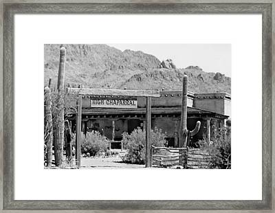 The High Chaparral Set With Sign Old Tucson Arizona 1969-2016 Framed Print