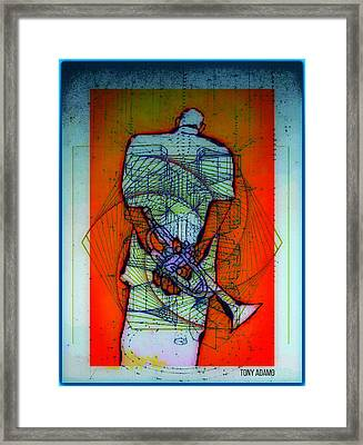 The High Intellectual Morphing Of Jazz Into..... Framed Print by Tony Adamo