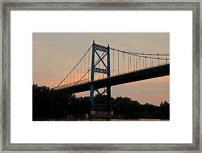 The High Level Aka Anthony Wayne Bridge I Framed Print