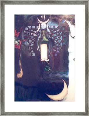 The High Priestess Framed Print by Erika Brown
