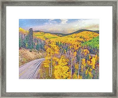 Framed Print featuring the digital art The High Road To Taos by Digital Photographic Arts
