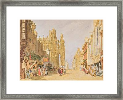 The High Street At Alencon Framed Print by John Sell Cotman