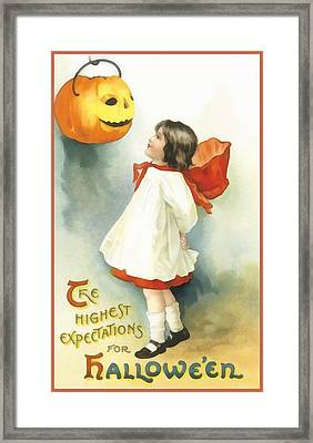The Highest Expectations For Halloween Framed Print
