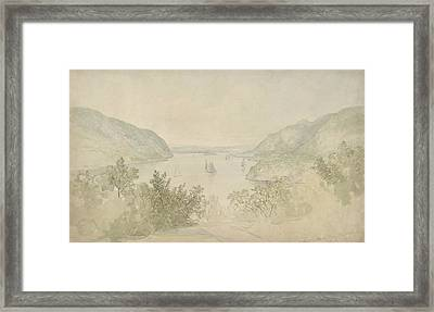 The Highlands From West Point Framed Print by Thomas Doughty