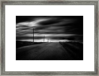 Framed Print featuring the photograph The Highway by Dan Jurak