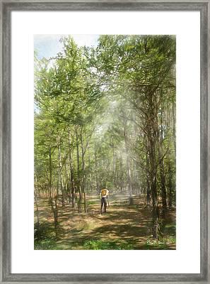 The Hiker Framed Print by Barry Jones