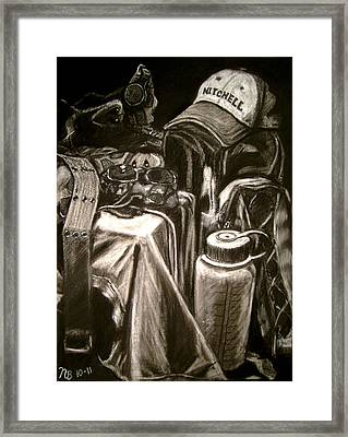 The Hiker Framed Print by Nils Beasley