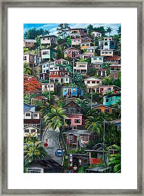 The Hill     Trinidad  Framed Print