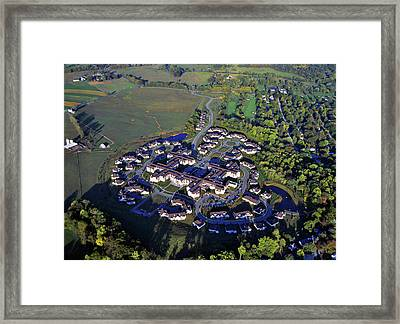 Framed Print featuring the photograph The Hill At Whitemarsh 4000 Fox Hound Drive Lafayette Hill Pennsylvania 19444 by Duncan Pearson