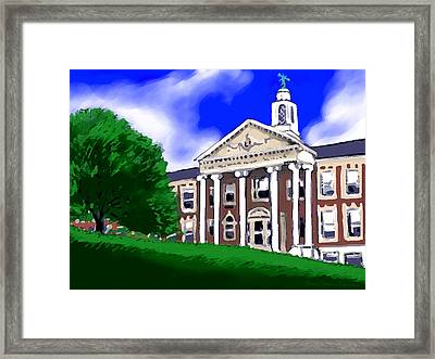 The Hill Framed Print by Jean Pacheco Ravinski