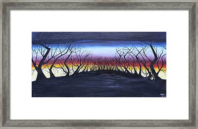 The Hill Framed Print by Tammy Dunn