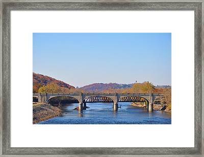 The Hill To Hill Bridge - Bethlehem Pa Framed Print by Bill Cannon