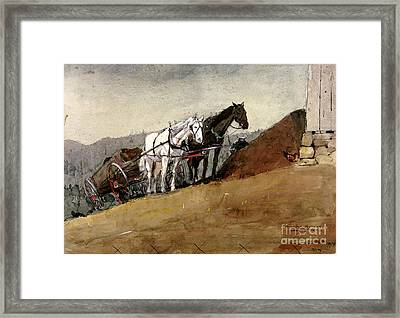 The Hill Top Barn Houghton Farm Framed Print by MotionAge Designs
