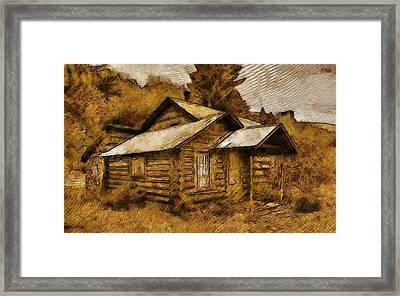 The Hillbilly Cabin Framed Print